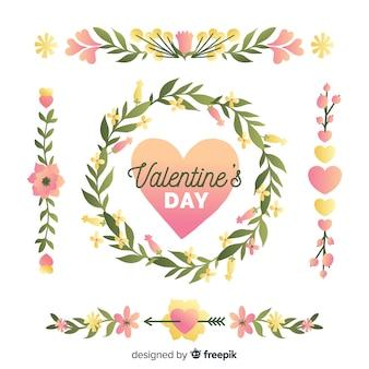 Guirnaldas y ramos de flores de san valentín