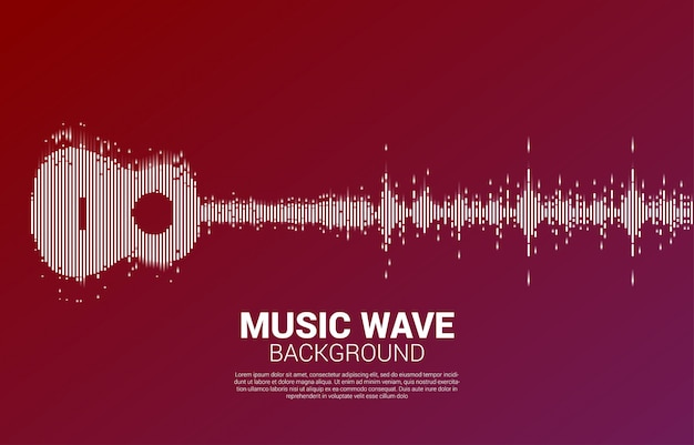 Guitar sound wave music equalizer para concierto de eventos y festival de música