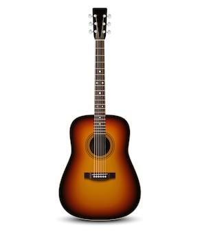 Guitarra acústica realista.