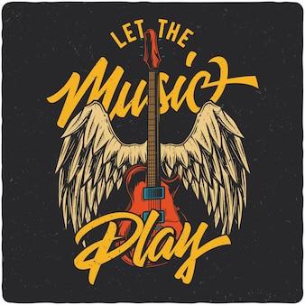Guitarra y alas