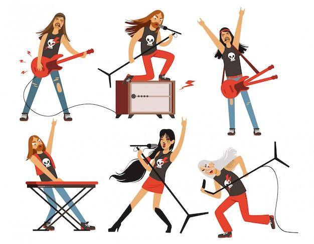 Guitarra, amplificador y otros equipos de música.