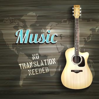 Guitarra de madera backround