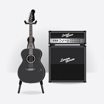 Guitarra electrica acustica