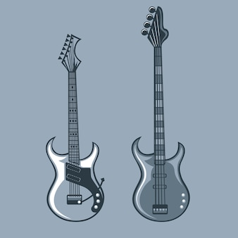 Bajo y guitarras solistas.