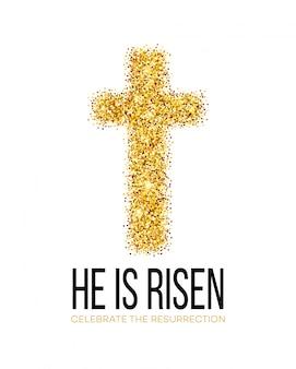 Él ha resucitado. pascua de resurrección