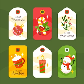 Había dibujado una colección de etiquetas de rebajas navideñas.