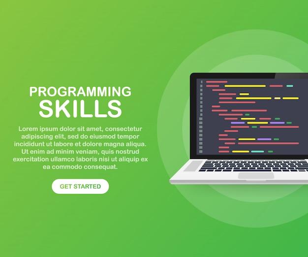 Habilidades de programación para el sitio web y la plantilla del sitio web móvil