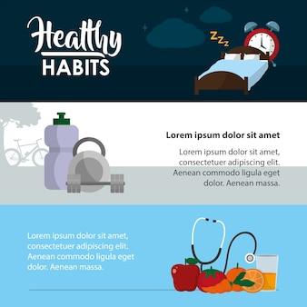 Hábitos saludables estilo de vida infografía