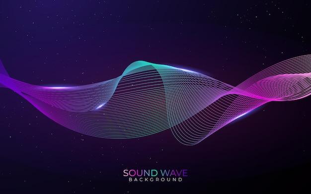Hablando de la ilustración de la onda de sonido