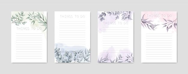 Para hacer la colección de la lista con hermosas flores dibujadas a mano