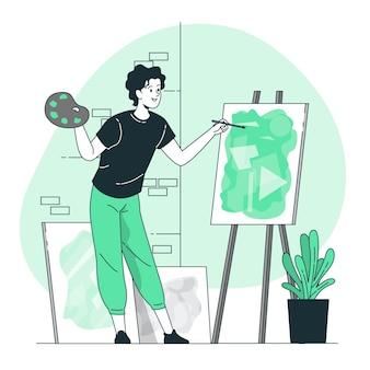 Hacer ilustración del concepto de arte