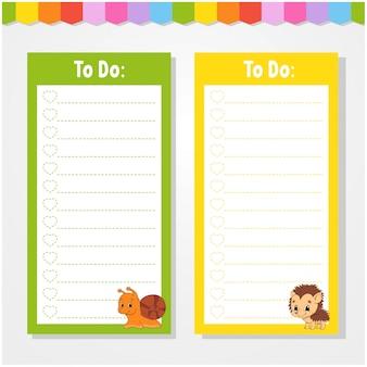Para hacer una lista de actividades infantiles