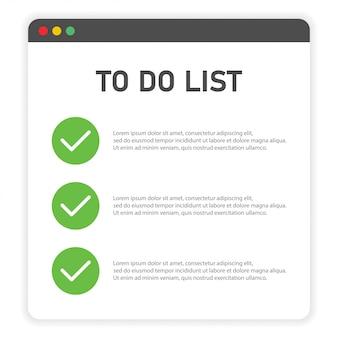 Para hacer la lista en el navegador de ventana en blanco