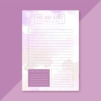 Para hacer la plantilla de la lista