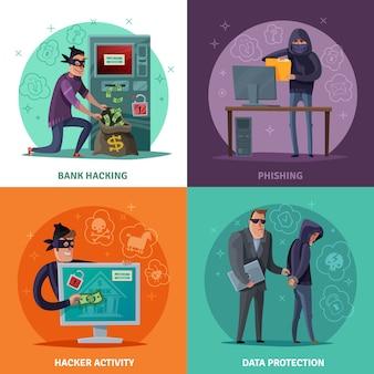 Hacker de dibujos animados