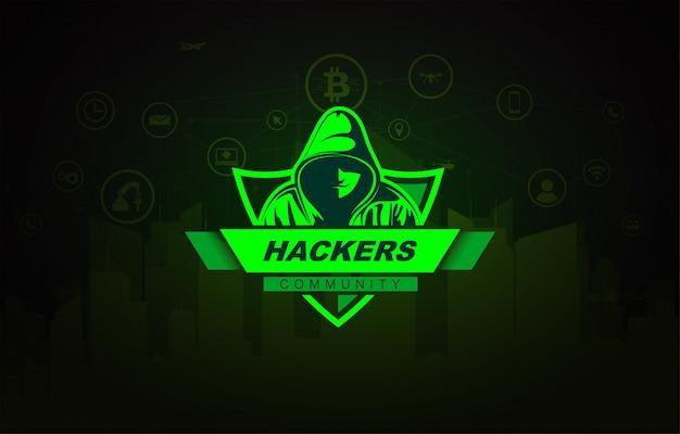 Hacker con la sudadera con capucha