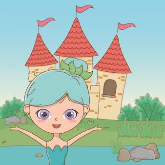 Hada de dibujos animados de cuento de hadas