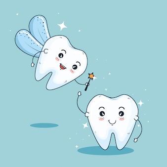 Hada de los dientes para la higiene de la medicina dental