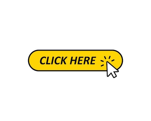 Haga clic aquí en el botón con el icono del cursor. eps vectoriales 10