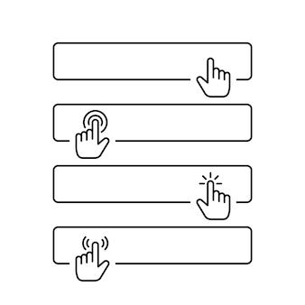 Haga clic en enviar botón en blanco en el diseño de estilo de línea
