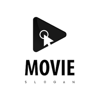 Haga clic en la película logo vector