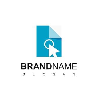 Haga clic en plantilla de diseño de logotipo de documento