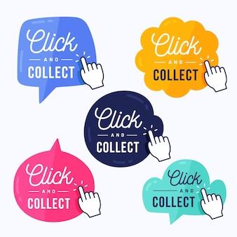 Haga clic y recopile la colección de botones