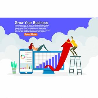 Haga crecer el diseño de su página de destino empresarial