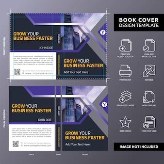 Haga crecer su negocio más rápido plantilla de portada del libro