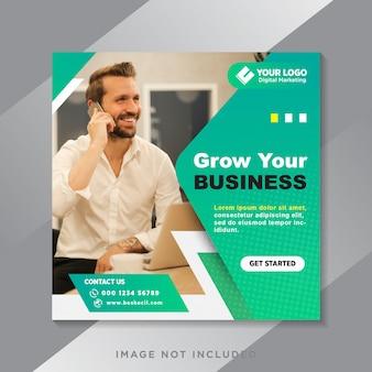 Haga crecer su negocio de publicaciones en redes sociales y banner web