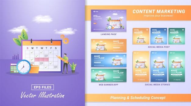 Haga planes y gestione el tiempo en línea