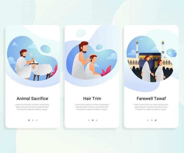 Hajj guía paso a paso kit de interfaz de usuario