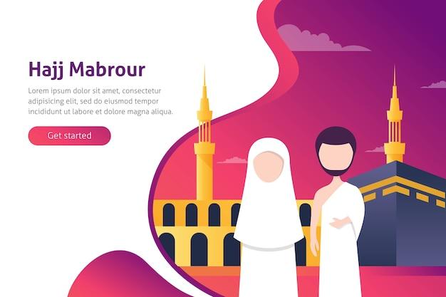 Hajj y umrah vector illustration