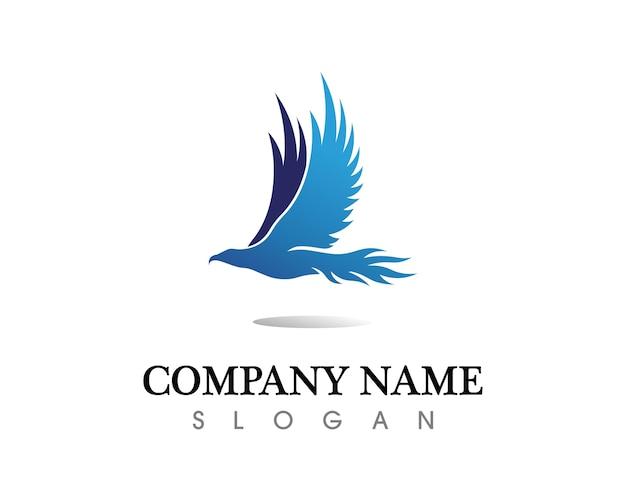 Halcón eagle bird logo plantilla vector icono