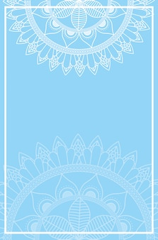 Halfs mandalas con fondo de color azul