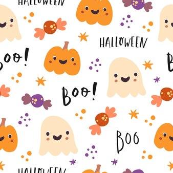 Halloween boo de patrones sin fisuras