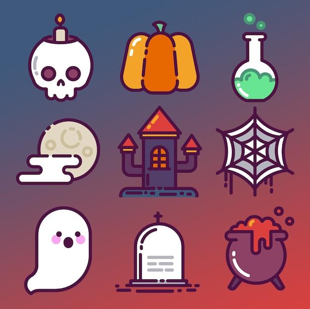 De halloween conjunto de iconos