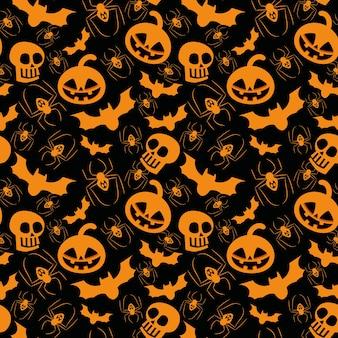 Halloween elementos de patrones sin fisuras.