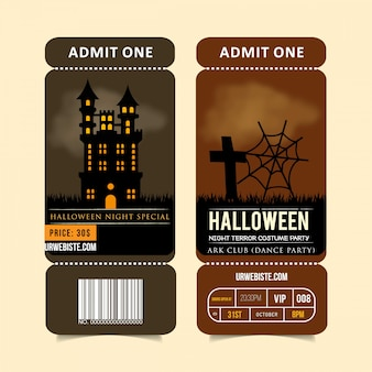 Hallowen party brochure design vector