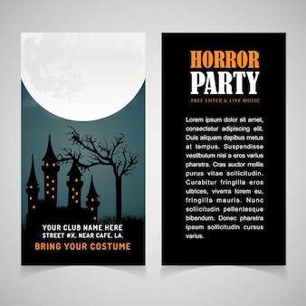 Hallowen party brochure design vector