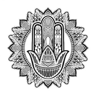 Hamsa talismán religión asiática.