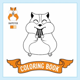 Hamster animals coloring pages libro.