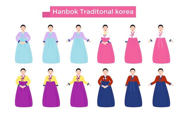 Hanbok corea tradicional