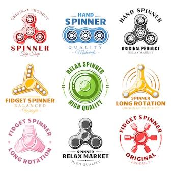 Hand spinner logos