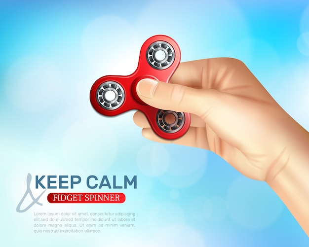Hand spinner toy poster