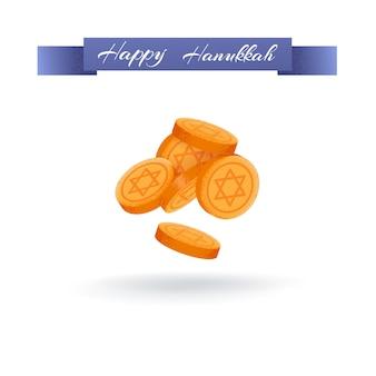 Hanukkah moneda rueda del destino