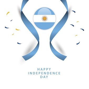 Happy argentina independent day vector template design