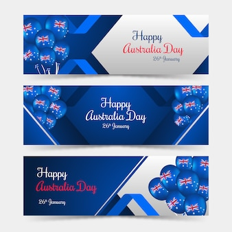 Happy australia day banners