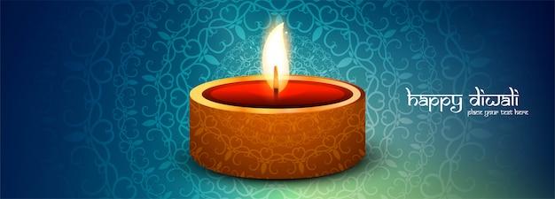 Happy diwali banner promocional de redes sociales
