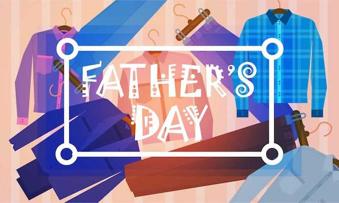 Happy father day family holiday